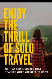 how to travel solo pin